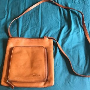 Well loved Fossil crossbody purse